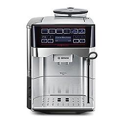 Bosch TES60759DE Kaffeevollautomat VeroAroma 700 OneTouch Zubereitung/Double Cup (1500 W, 1,7 L, 19 bar, Cappuccinatore) edelstahl