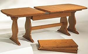 Arredamenti rustici tavolo fratino allungabile da 190 a for Tavoli in legno massello rustici