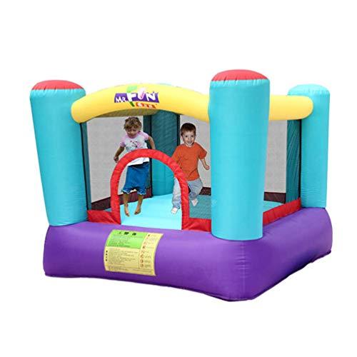 XGYUII Bouncy Castle Kids Bouncer Jumping House Spielspaß Familienspielplatz Innenausstattung Kleines Trampolin Vier-Säulen,Blue,200 * 200 * 160cm