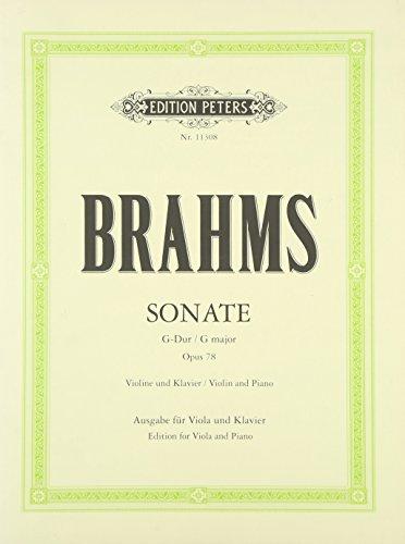 Violinsonate G-Dur op. 78: übertragen für Viola und Klavier von Thomas Riebl