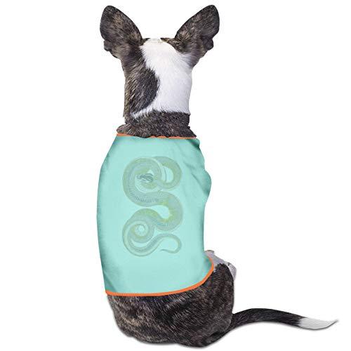 Jiaojiaozhe Green Python Snake Pet Service Pet Clothing Funny Dog Cat Costume Tshirt Sky Blue (Cat Snake Kostüm)
