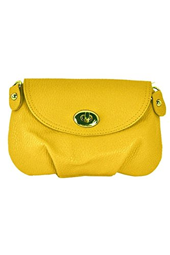 TOOGOO(R) Borsa a tracolla della borsa della borsa della borsa del messaggero delle donne borsa-Giallo Giallo