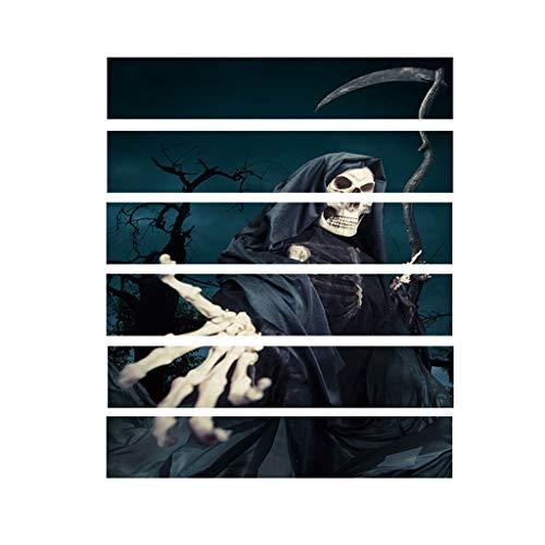 Heetey Halloween Dekoration Halloween 3D Aufkleber Crow Tombstone Staircase Sticker Wasserdichter Wandaufkleber PVC Wall Sticker Abnehmbare Wandaufkleber Aufkleber Home Dekorationen (Einfach Vogelscheuche Kostüm Herren)