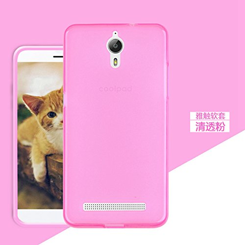 Premium Silicon Soft S Logo Back Case Cover for Coolpad Mega 2.5D – Pink