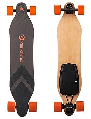 Skate MAXFIND électrique avec télécommande sans fil, 7,7 kg Longboard électrique avec moteur à double concentrateur (MAX A)