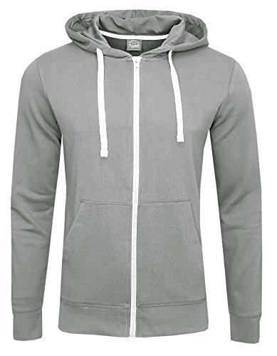 Jack & Jones SWEAT Zip Hood COLOR Grau ( Mirage Grey