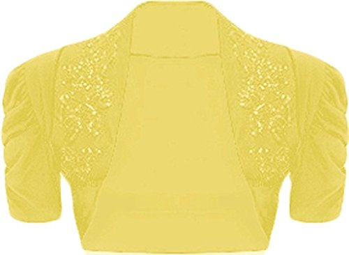 Islander Fashions -  Coprispalle  - Donna Ruched Sleeve Yellow