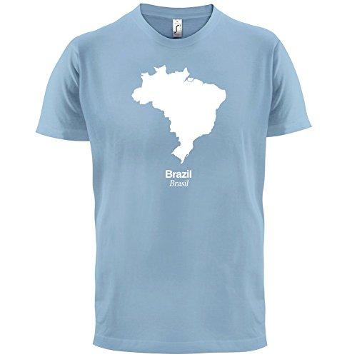 Brazil / Brasilien Silhouette - Herren T-Shirt - 13 Farben Himmelblau