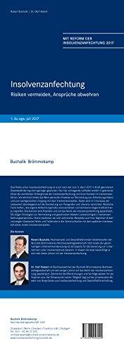 Insolvenzanfechtung : Risiken vermeiden, Ansprüche abwehren - Mit Reform der Insolvenzanfechtung 2017