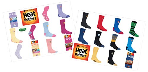1 Pair Mens Ladies Kids Heat Holders Thermal Licensed Character Slipper Grip Socks 4 sizes