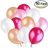 NUOLUX Latex Luftballons Hochzeit Luftballons, 3,2 g Luftballons für Party Dekor,4 Farben, 50 Stück