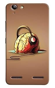 Omnam Brain Listening Music Printed Designer Back Cover Case For Lenovo Vibe K5 Plus