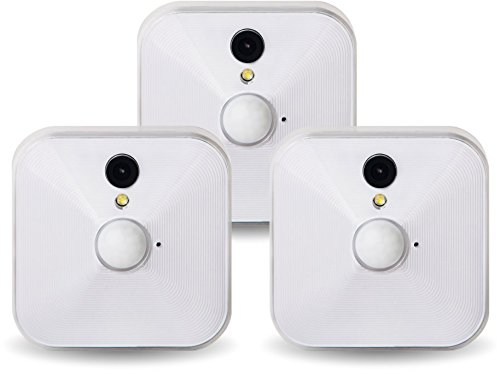 Blink from Immedia Blink Home Security Camera System for Your Smartphone with Motion Detection, HD Video, Battery Powered, and Cloud Storage Included - 3 Camera Kit