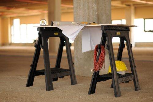 Stanley Unterstellbock (paarweise, flach zusammenlegbar, fester Stand, Gummi-Füße, 450 kg Belastbarkeit) STST1-70713 - 4