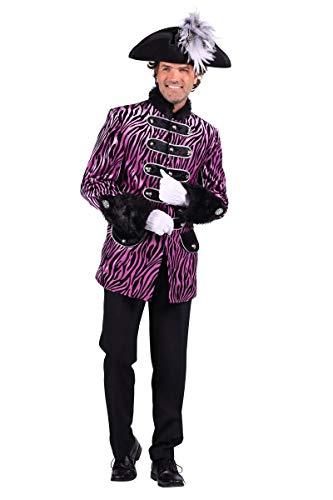Thetru Herren Kostüm Husar Uniform Jacke Zebra lila Karneval Gr.2XL