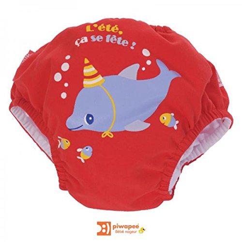 PIWAPEE - Maillot de bain couche dauphin 8-11 kg