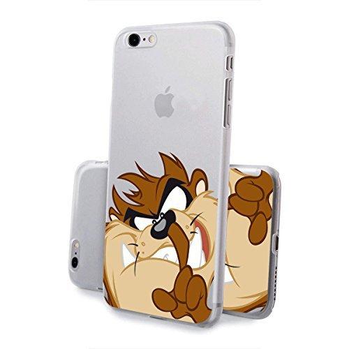 finoo | IPHONE 6 / 6S Lizensierte Hardcase Handy-Hülle | Transparente Hart-Back Cover Schale mit Looney Tunes Motiv | Tasche Case mit Ultra Slim Rundum-schutz | Tweety freut sich Taz popelt
