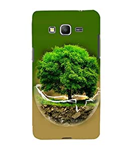 printtech Globe Tree Concept Nature Back Case Cover for Samsung Galaxy Grand Prime G530h