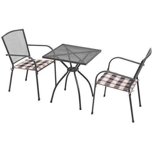 Tavoli E Sedie Da Giardino In Metallo.Festnight Set Tavolo Quadrato Rettangolare E 2 4 6 8 Sedie Con