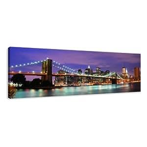 Visario 5701 tableau sur toile de lin new york 120 x 40 cm cuisin - Tableau new york castorama ...