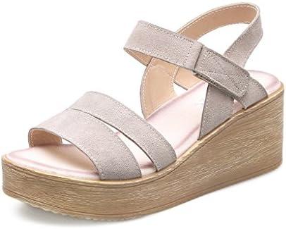KaiGangHome Moda salvaje tacones altos mujer muffin sandalias gruesas pendiente con zapatos de estudiante con...
