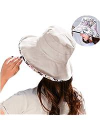 5450bffc9c9 Ladies Sun Hat Women Summer Bucket Hat Foldable Beach Cap Wide Brim UV Hat
