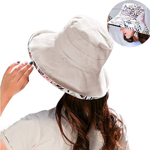 Sombrero de Mujer Gorra de Verano Sombrero Playa Plegable Sombrero De ala. 8d46127254c