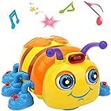 TINOTEEN Giocattolo Musicale per Bambini e Bambino, Ape Giocattolo per Strisciando e Cantando