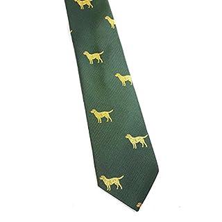 Cave Canem Krawatte Alexander, grün, Hundemotiv - klassisch, sportlich, elegant (Polyester)