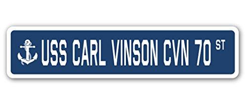 USS Carl Vinson CVN 70Street Sign US Navy Schiff Veteran Sailor Geschenk