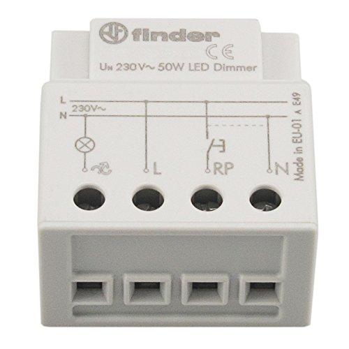 LED Dimmer-Einsatz 3-50 Watt für LED 230V GU10 + 12V GU5.3; stufenlos; Memory-Funktion; für Einsatz in Schalterdosen/UP-Dosen/Installationsdosen/Hohlwanddosen geeignet; Phasenanschnitt-Steuerung