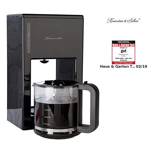Rosenstein & Söhne Filter Kaffeemaschinen: Moderne Design-Kaffeemaschine für bis zu 12 Tassen, 1.000 Watt (Kaffeemaschine mit Glaskanne) -