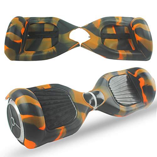 ABBY Scooter Hülle Silikon Schutzhülle Mit Reißverschluss für 6,5 Zoll Hoverboard 2 Rader Smart Self Balancing Elektro Scooter Cover (Camo+Reißverschluss)