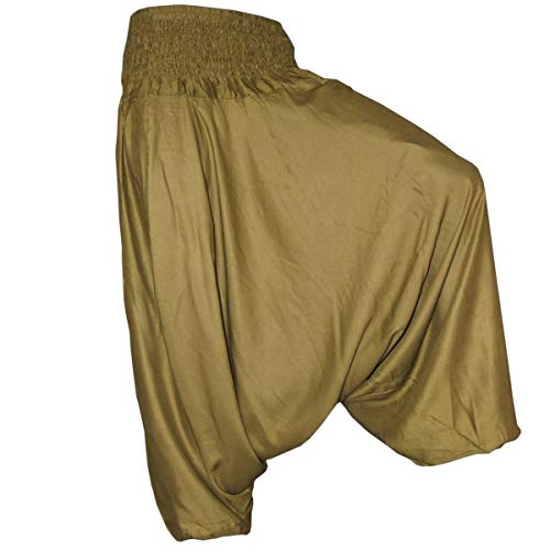 Plain Olive (PANASIAM Aladin Pants Plain Olive-Green XL)