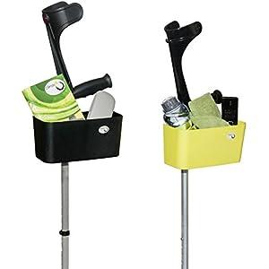 Griggekärble – Transporthelfer für Gehstützen/Krücken schwarz