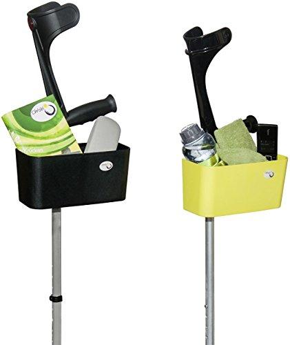 Griggekärble - Transporthelfer für Gehstützen/Krücken schwarz