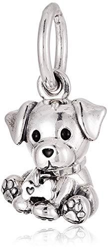 Pandora Damen Moments Labrador-Welpe Charm-Anhänger Sterling Silber, Emaille 798009EN16