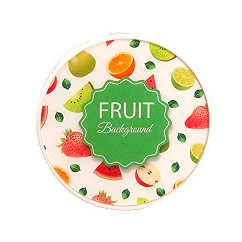 MoGist Kontaktlinsenbehälter Bunte Früchte Kuchen Muster Design Runde Kontaktlinse Kasten Kontaktlinsen Reise Aufbewahrung (Weiss)