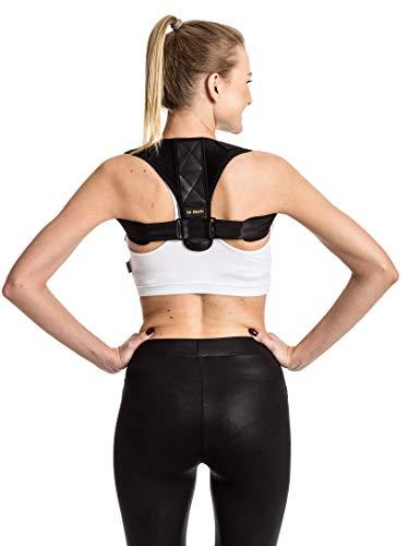 dr - correttore posturale per donne e uomini, supporto per ridurre il dolore a schiena e collo, corpo per uomo, completamente regolabile e discreto, riduce il dolore