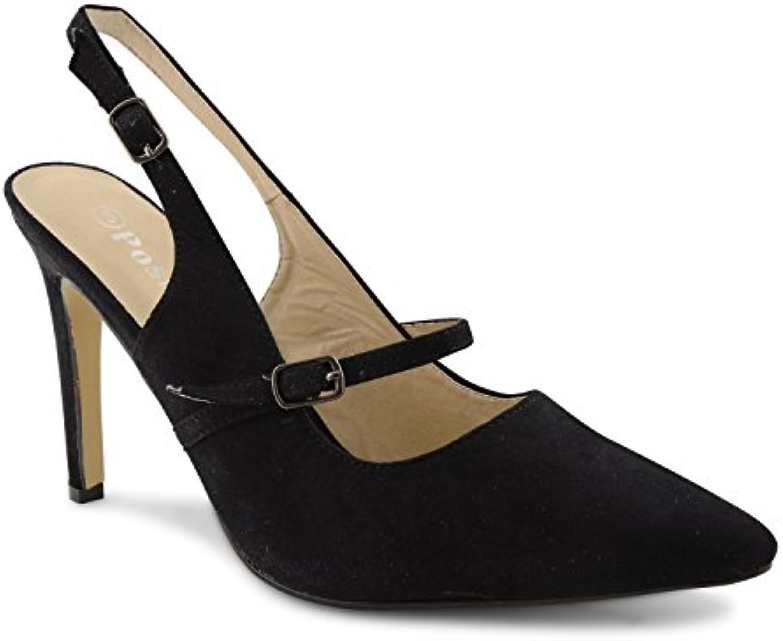 Footwear Sensation - Puntera alargada, abertura lateral mujer -