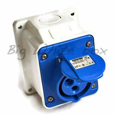 Garage Hook Up Socket – 16Amp – Waterproof IP44 – Caravan / Motorhome / Industrial