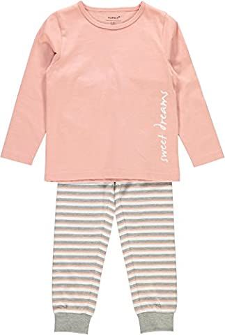 NAME IT Baby Girls' Nmfnightset Rose Tan Noos Pyjama Set,