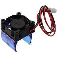perfk Cubierta Radiador Ventilador de Refrigeración Accesorios Fácil de Contectado Herramineta Cómodo - 12v