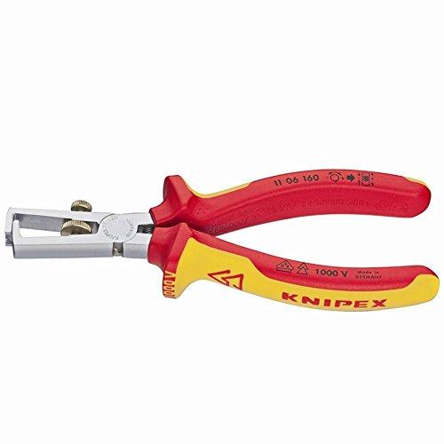 Preisvergleich Produktbild Abisolierzange 160mm VDE mit Öffnungsfeder, isol.