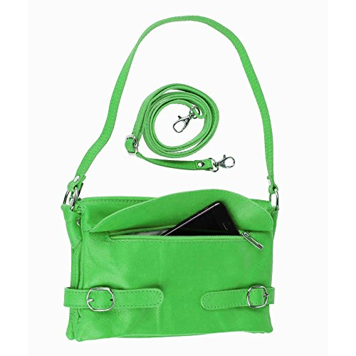 Made Italy , Borsa Messenger  Uomo rosso verde verde