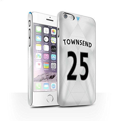 Offiziell Newcastle United FC Hülle / Glanz Snap-On Case für Apple iPhone 6S / Pack 29pcs Muster / NUFC Trikot Away 15/16 Kollektion Townsend