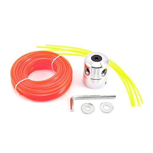Robuster Nylon-Draht / Nylon-Schnur für Freischneider, Orange, Cutting Head Strimmer Replacement + 3mm x20m Line
