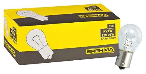 10x Brehma P21W 12V 21W Kugellampe BA15s Bremslichtlampe Nebelschlusslampe Rückfahrlicht Tagfahrlicht
