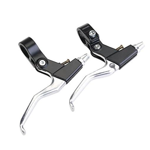 Pixnor, coppia di leve di freni per la bicicletta durevoli in lega di alluminio, freni per MTB