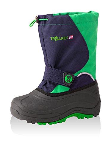Trollkids Kinder Winter Stiefel Telemark Marineblau / Vipergrün